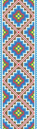 gestickt: Nahtlose Stripe dem Vektor Verlauf des traditionellen Folk Cross Stitch