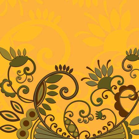 vector background of floral design