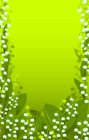 background lily of the valley Vector