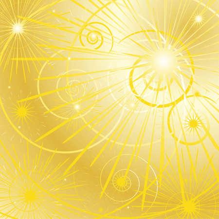 bright golden star background