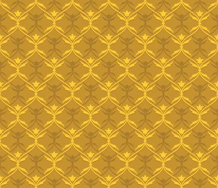 wallpaper seamless texture and warm golden tones Illustration