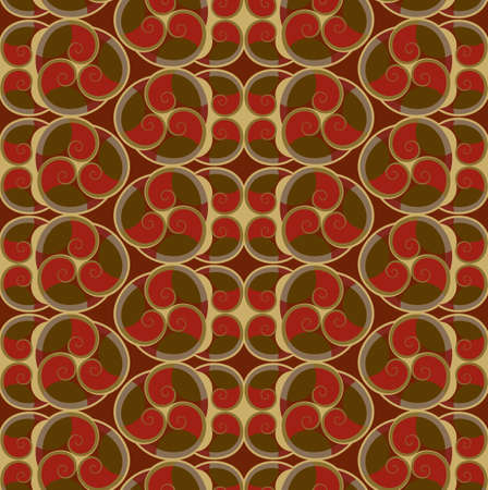 wallpaper seamless texture red and brown Illustration