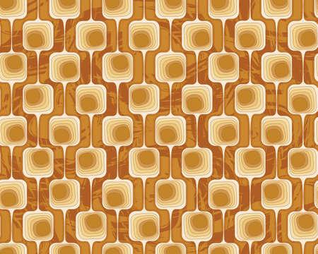 geometric seamless pattern wallpaper in terracotta tones
