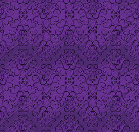 seamless wallpaper pattern in shades of purple with black pattern Stock Vector - 11998430