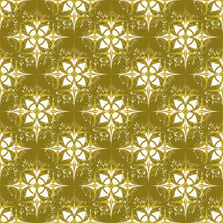 Seamless Grunge wallpaper in an old gold Illustration