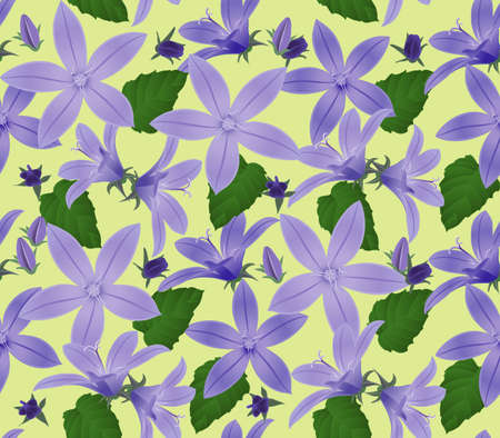 Seamless floral background Illustration