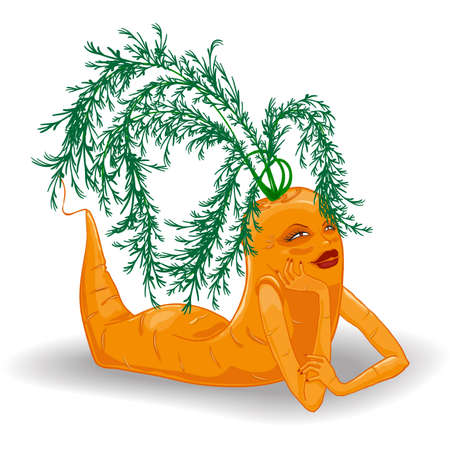 cartoon girl carrot Vector