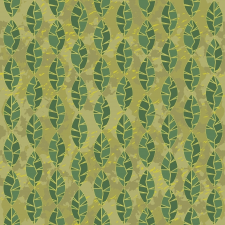 seamless green leaves background grunge