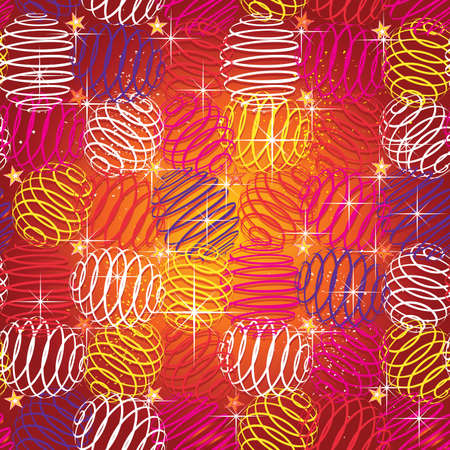 seamless texture of bright festive Illustration