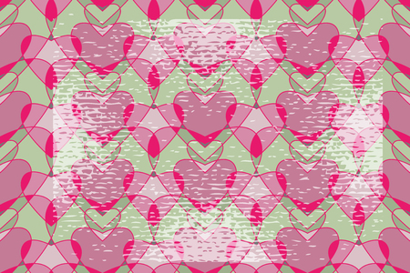 gentle Valentine seamless backgrounds pattern with grunge elements