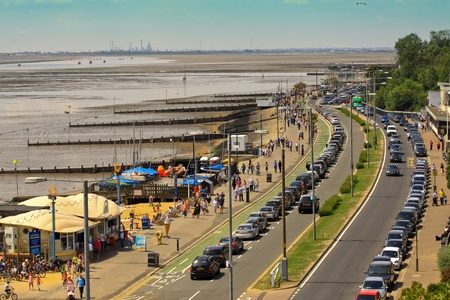 Southend-on Sea, UK, July 10,2011: A view from a boulevered by the seaside