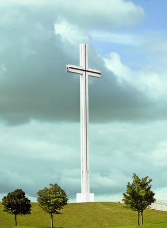 The white cross in Phoenixpark in Dublin. Stock Photo