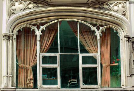 A stylish, beautiful, old window Stock Photo