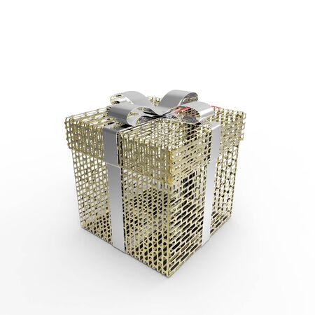Golden gift Stock Photo - 17401129