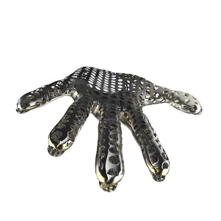 Metal hand  3d illustration of a metal hand  Stock Photo
