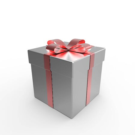 This is a special design gift box over white background 3d illustration