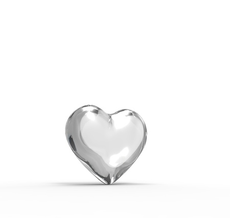 This is a 3d conceptual illustration of a heart   Stock Photo