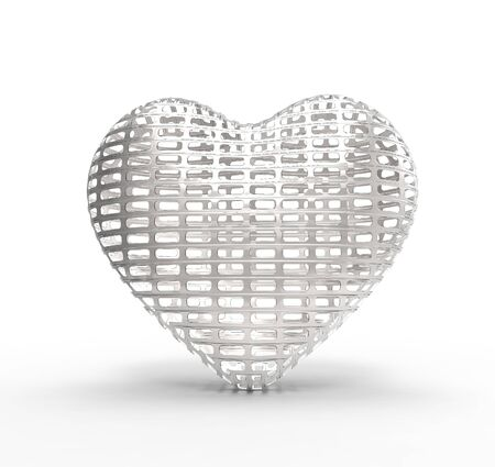 fragil: This is a 3d conceptual illustration of a heart   Stock Photo