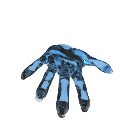 Ths is a 3d conceptual illustration of a hand