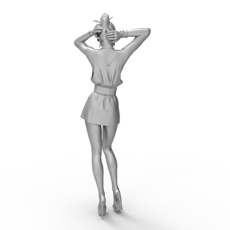 This is a 3d illustration of a pin up