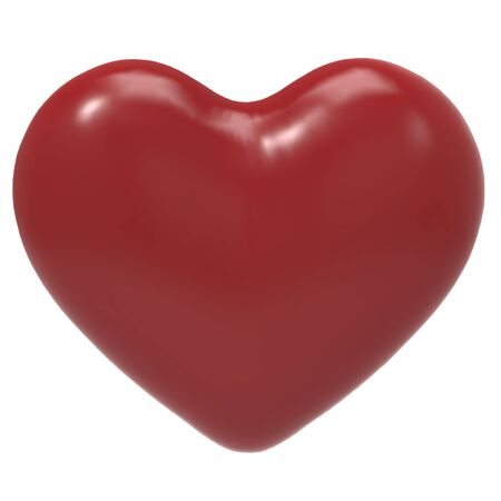 This is a 3d illustration of a  lovely heart Stock Photo