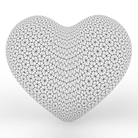 fragil: This is a 3d illustration of a  lovely heart Stock Photo