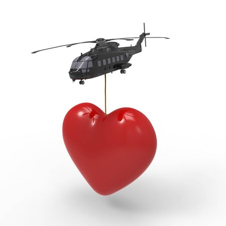This is a 3d illustration about love