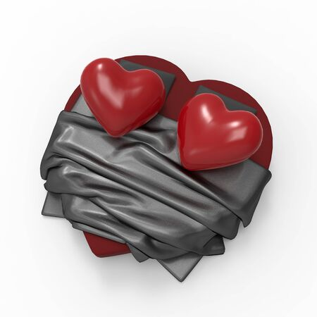This is a 3d illustration of love