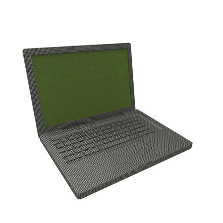 This is a 3d illustration of a laptop Stock Illustration - 17536474