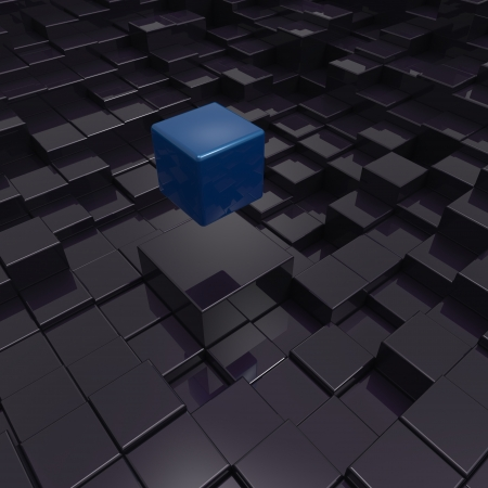 3D cubes background Stock Photo - 19736543
