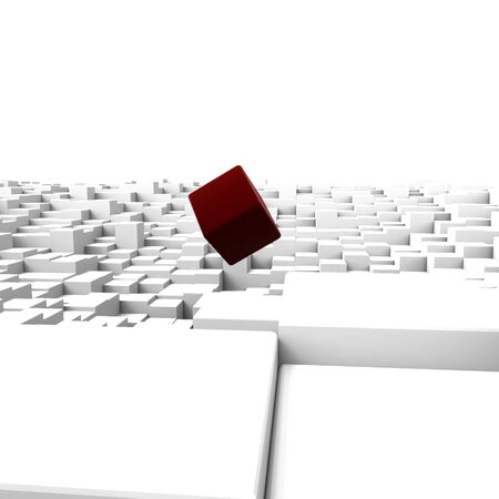 3D cubes background Stock Photo - 19736539