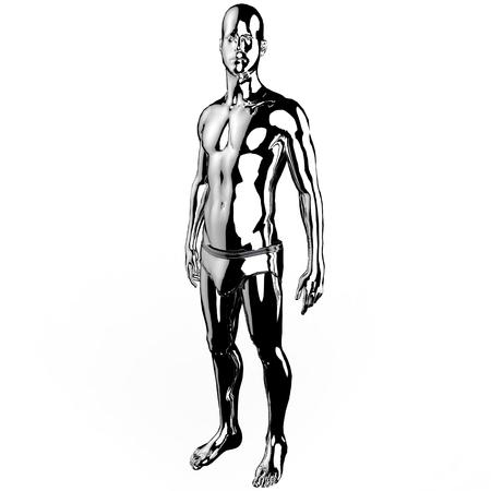 beautyful: Men 3d illustration design