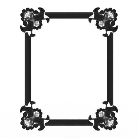 アンティック フレーム背景デザイン