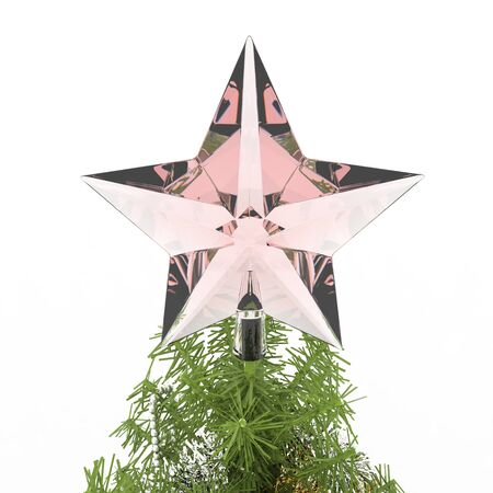 Star decoration on Christmas tree