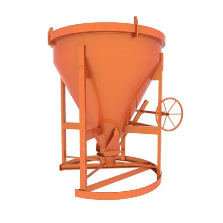 Concrete mixer in 3D isolated on white background