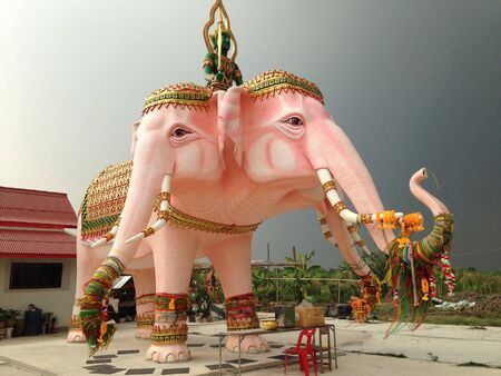 erawan: Erawan Elephent in Thailand. Stock Photo