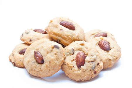 almond cookies  isolated on white background Stock Photo - 8825935