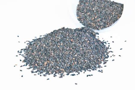 sezam: Nasiona sezamu czarny Zdjęcie Seryjne