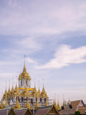A sight to behold the beauty of architecture, Buddhist temples in Bangkok. Фото со стока