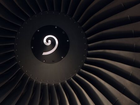 Front View of a modern Turbofan Jet Engine Stock Photo - 5694704