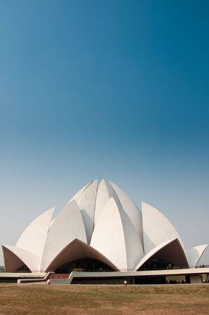 The Lotus Temple in Delhi, India.