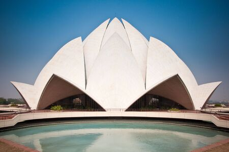 The Lotus Temple in Delhi, India.