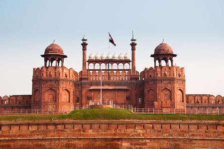 The Red Fort in Old Delhi, India. Stock Photo