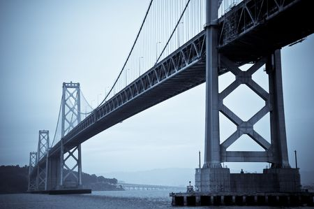 The Bay Bridge, San Francisco. Finished in a Blue Duotone. Stock Photo - 6181298