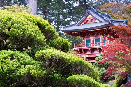 The Japanese Tea Garden in the Golden Gate Park, San Francisco.