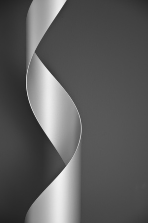 Steel cylinder cut and formed into an abstract sculpture  Stock Photo - 12784637