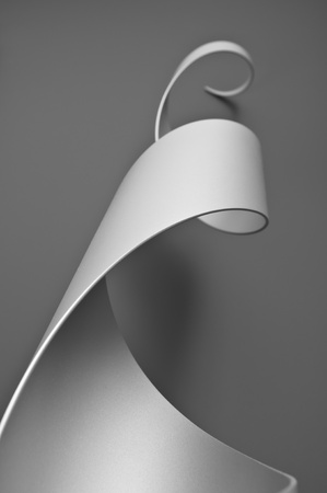 Steel cylinder cut and formed into an abstract sculpture Stock Photo - 12784643