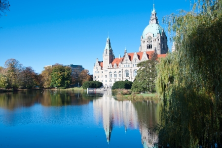 The Rathaus, or City Hall, of Hannover, Germany  Stock Photo