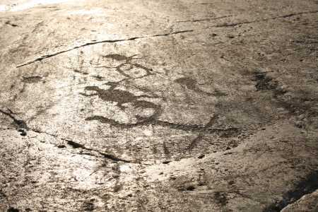 onega: Lake Onega petroglyphs Stock Photo