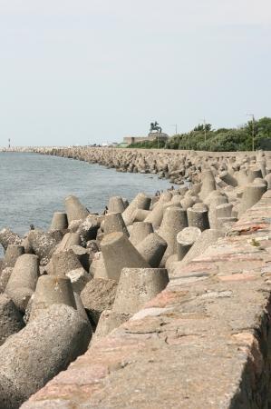 breakwaters: breakwaters, Baltic sea Stock Photo